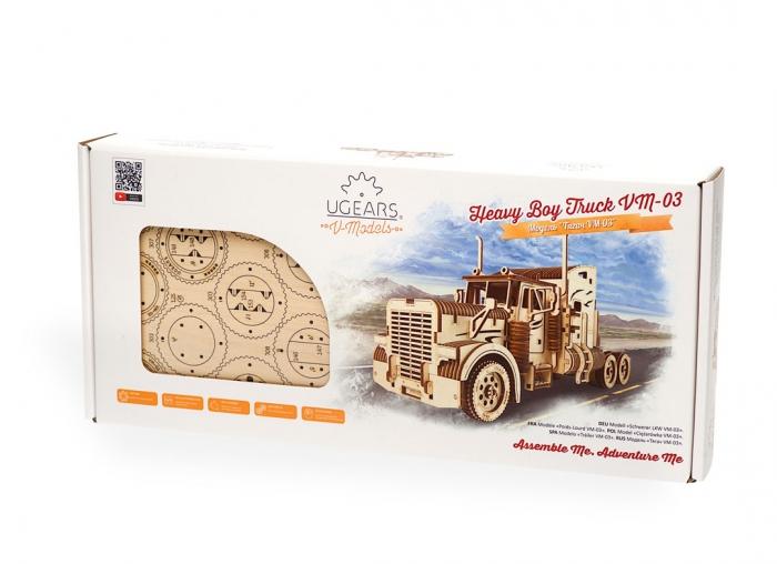 Puzzle 3D Camion VM-03 din lemn Ugears 17