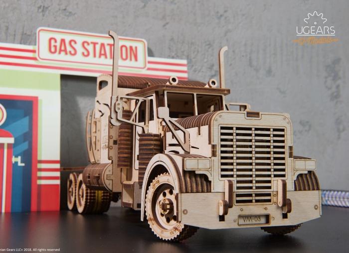 Puzzle 3D Camion VM-03 din lemn Ugears 12