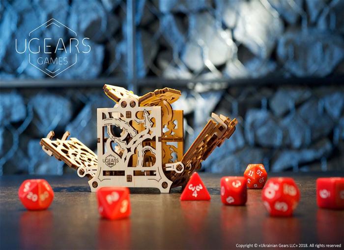 Puzzle 3D Cutie mecanica zaruri Ugears 2