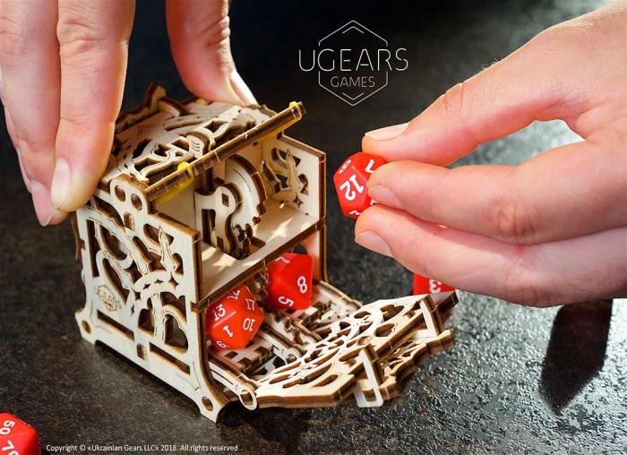 Puzzle 3D Cutie mecanica zaruri Ugears 7