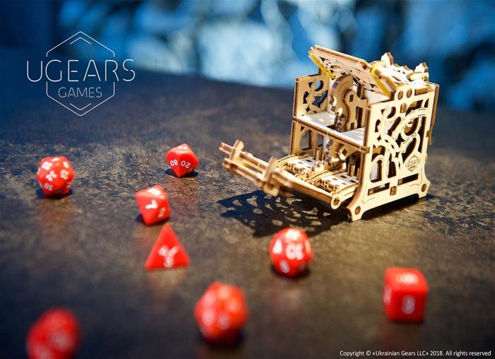Puzzle 3D Cutie mecanica zaruri Ugears 1