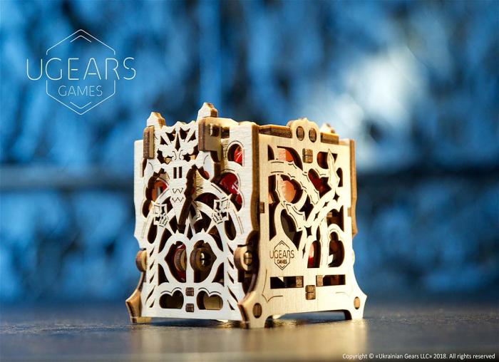 Puzzle 3D Cutie mecanica zaruri Ugears 5