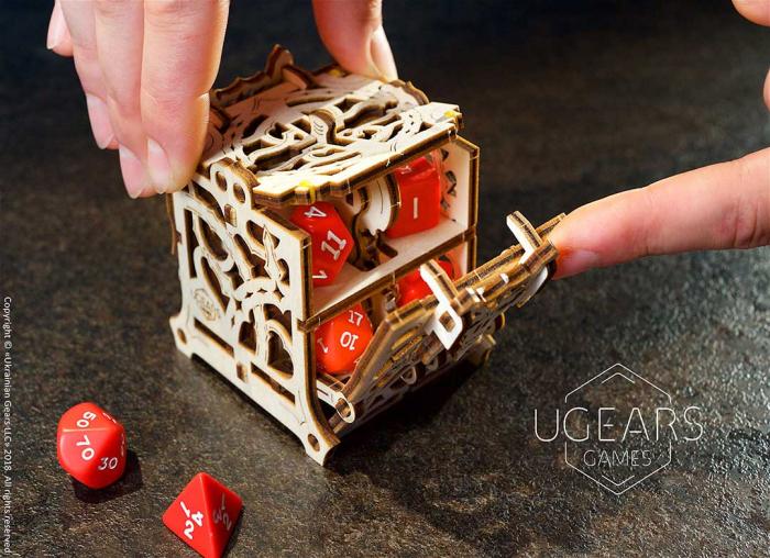 Puzzle 3D Cutie mecanica zaruri Ugears 8