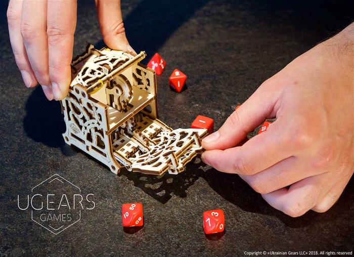 Puzzle 3D Cutie mecanica zaruri Ugears 6