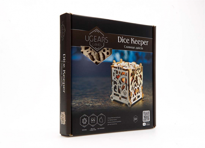 Puzzle 3D Cutie mecanica zaruri Ugears 13