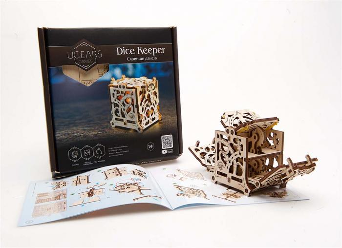 Puzzle 3D Cutie mecanica zaruri Ugears 12