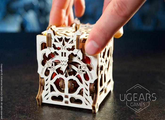 Puzzle 3D Cutie mecanica zaruri Ugears 10