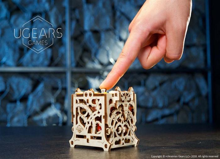 Puzzle 3D Cutie mecanica zaruri Ugears 9