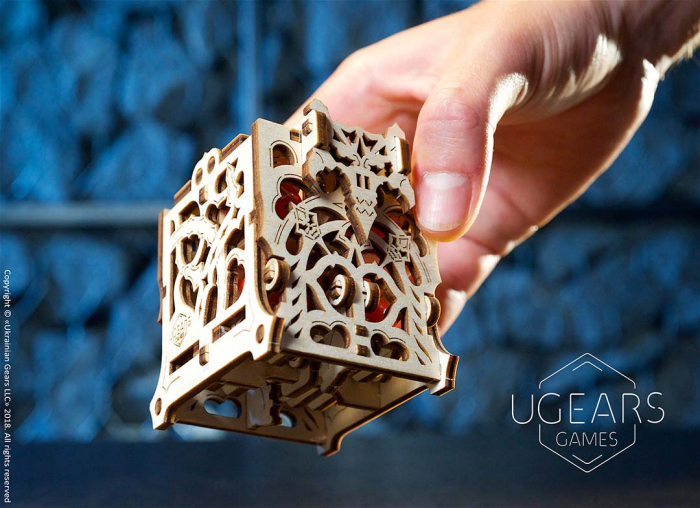 Puzzle 3D Cutie mecanica zaruri Ugears 11