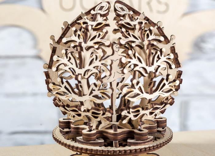 Puzzle 3D Floare din Lemn Ugears 9