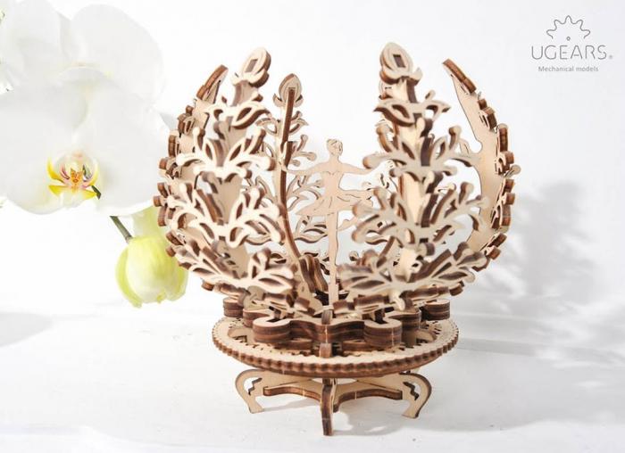 Puzzle 3D Floare din Lemn Ugears 7