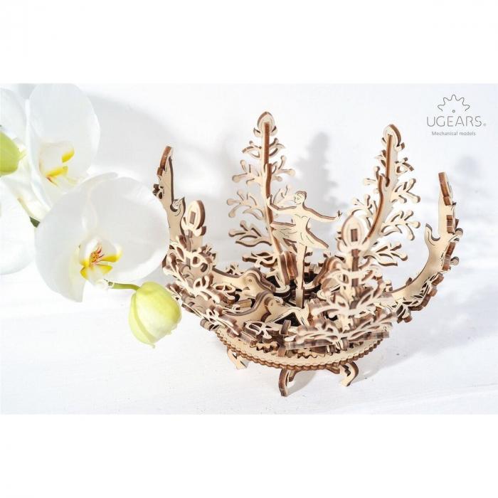 Puzzle 3D Floare din Lemn Ugears 6