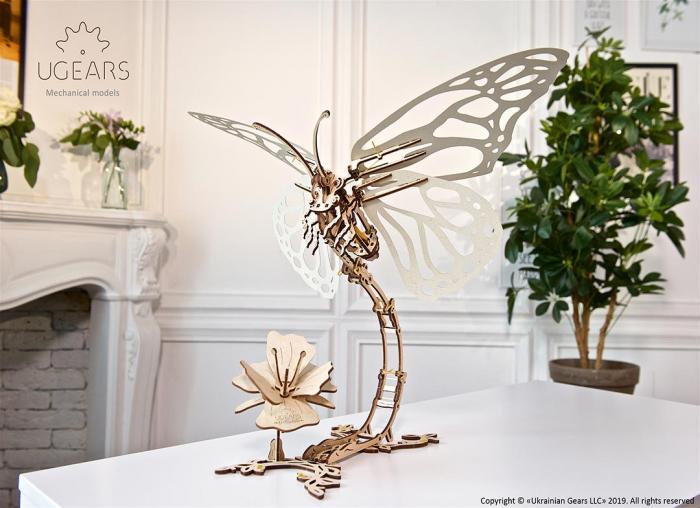 Puzzle 3D Fluture mecanic Ugears 5
