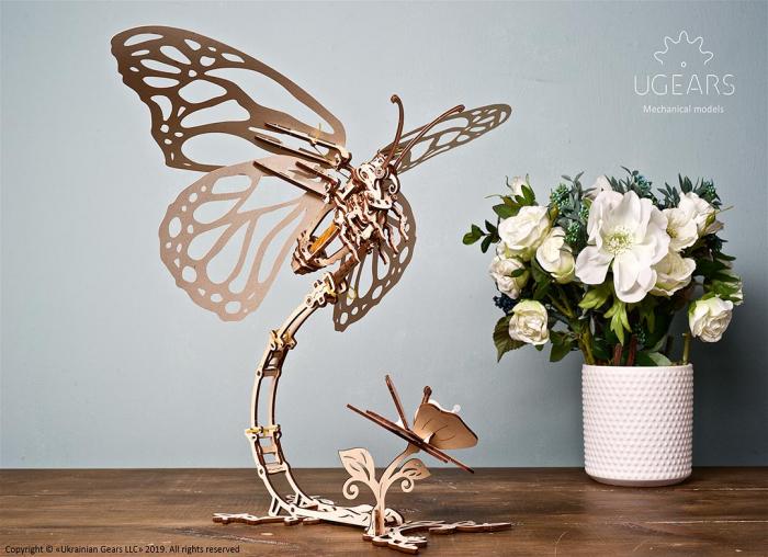 Puzzle 3D Fluture mecanic Ugears 0