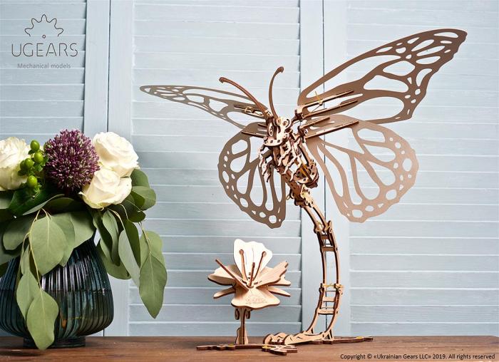 Puzzle 3D Fluture mecanic Ugears 6