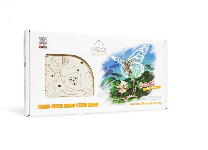 Puzzle 3D Fluture mecanic Ugears 12