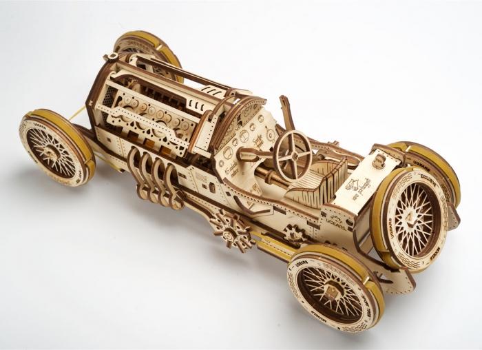 Puzzle 3D Masina Grand Prix U-9 din lemn Ugears 1