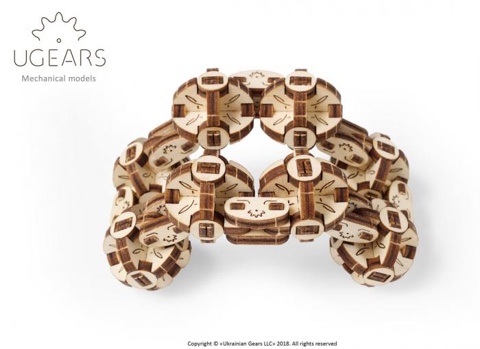 Puzzle 3D Model Flexi-cubus din lemn Ugears 5