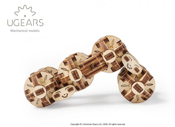 Puzzle 3D Model Flexi-cubus din lemn Ugears 6