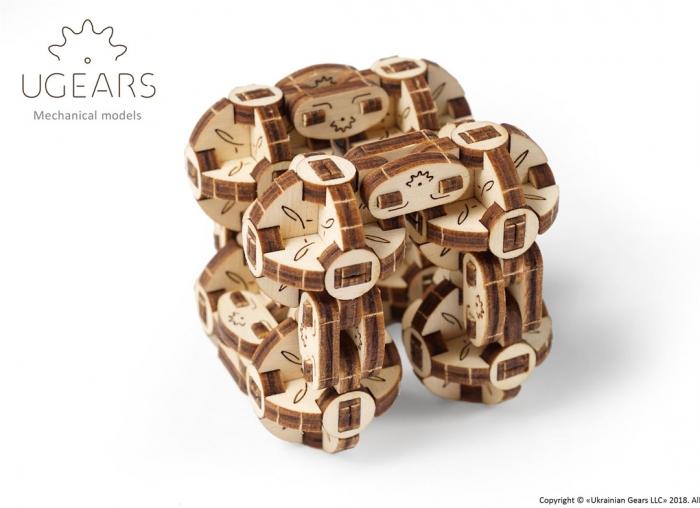Puzzle 3D Model Flexi-cubus din lemn Ugears 4