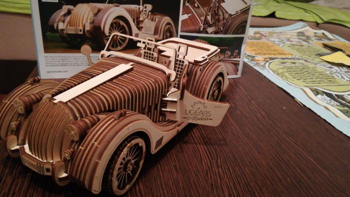 Puzzle 3D Model Roadster VM-O1 din lemn Ugears 19