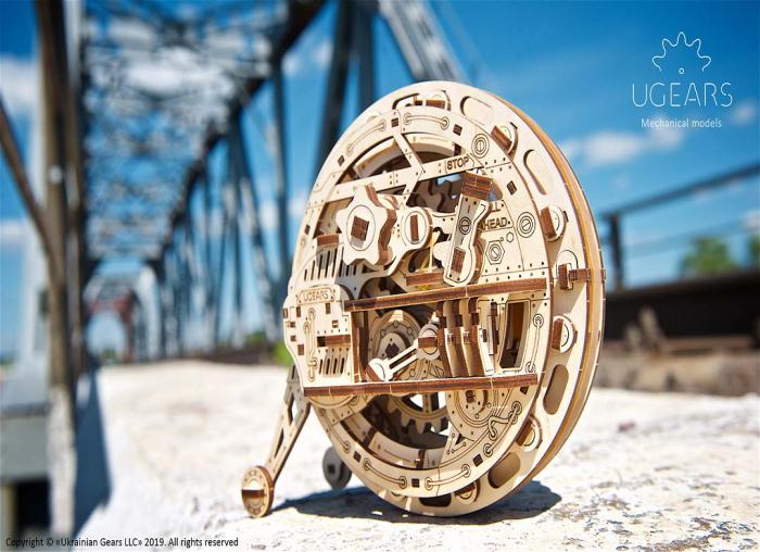 Puzzle 3D Monociclu Ugears 2