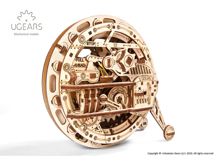 Puzzle 3D Monociclu Ugears 8