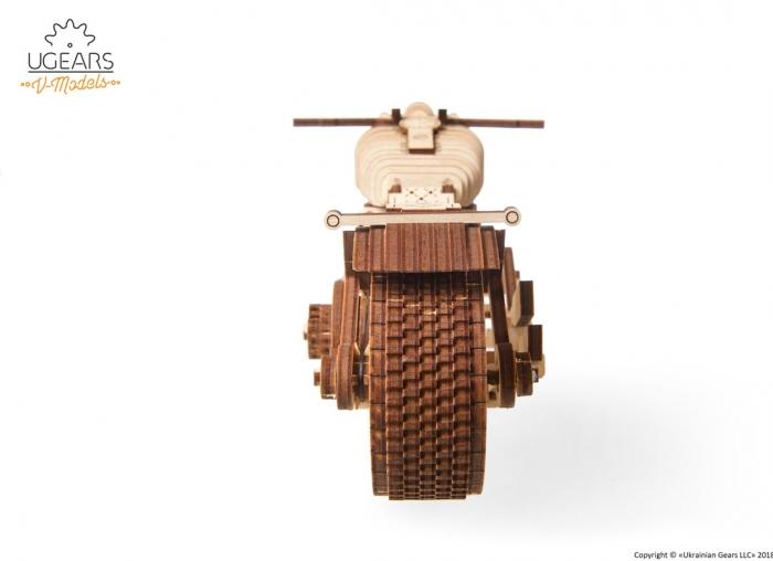 Puzzle 3D Motocicleta VM-02 din lemn Ugears 1