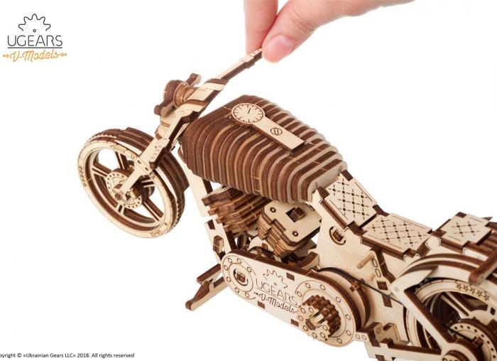 Puzzle 3D Motocicleta VM-02 din lemn Ugears 18
