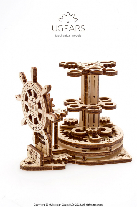 Puzzle 3D Organizator birou cool Ugears 5
