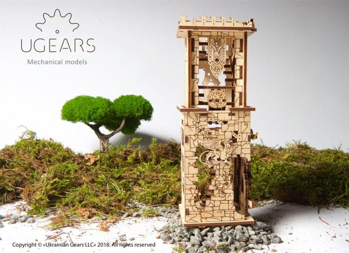 Puzzle 3D Turn Archballista din lemn Ugears 1