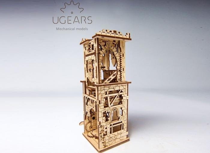 Puzzle 3D Turn Archballista din lemn Ugears 15