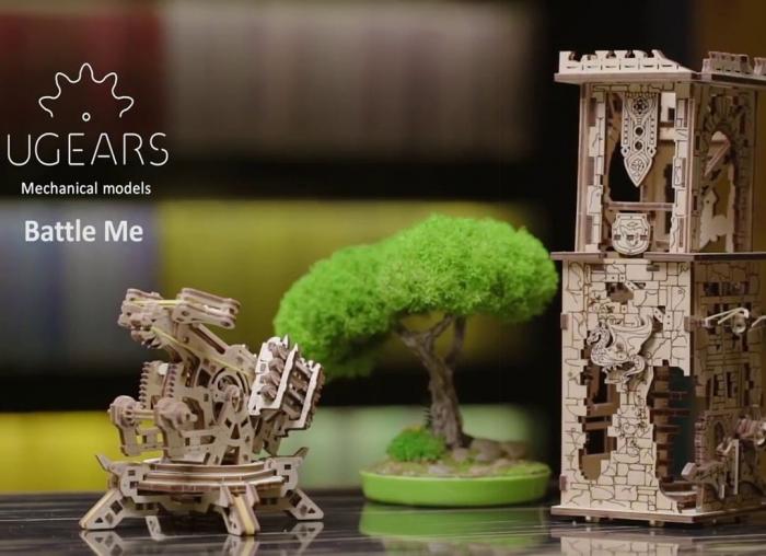 Puzzle 3D Turn Archballista din lemn Ugears 11