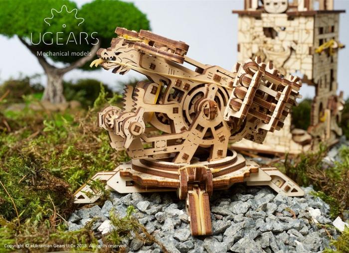 Puzzle 3D Turn Archballista din lemn Ugears 14