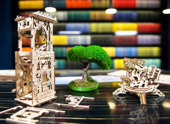 Puzzle 3D Turn Archballista din lemn Ugears 8