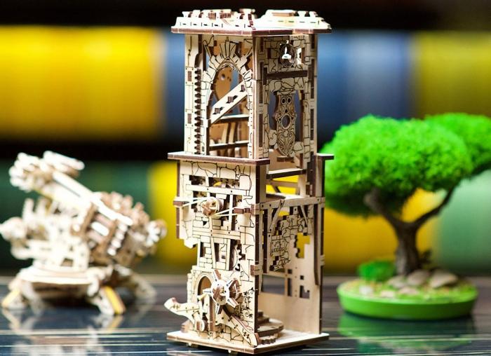 Puzzle 3D Turn Archballista din lemn Ugears 0