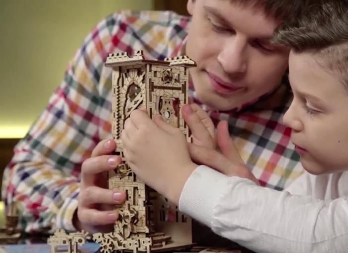 Puzzle 3D Turn Archballista din lemn Ugears 13
