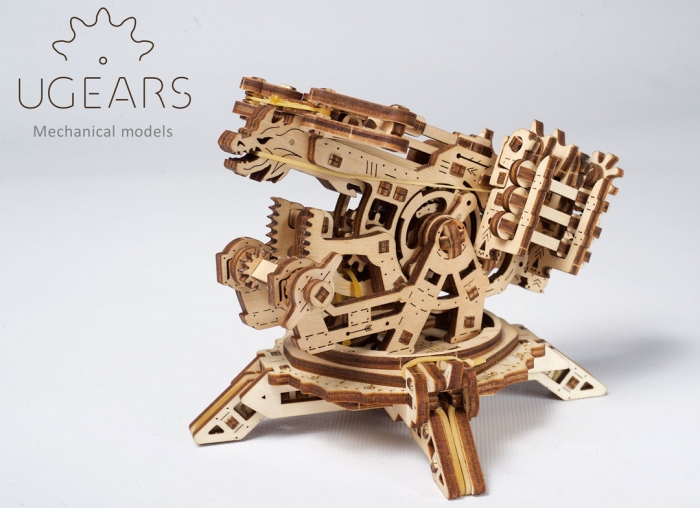 Puzzle 3D Turn Archballista din lemn Ugears 7