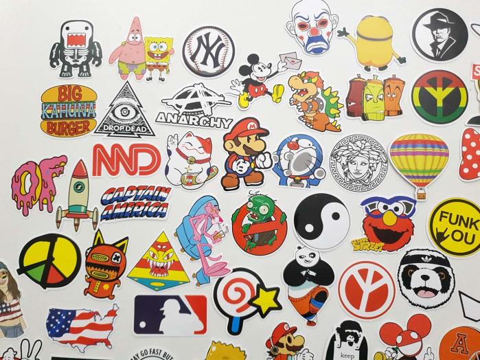 Set 100 stickere amuzante Rebele 3
