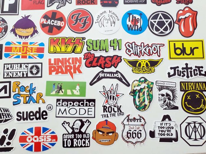 Set 100 stickere bagaje Rock the world 4