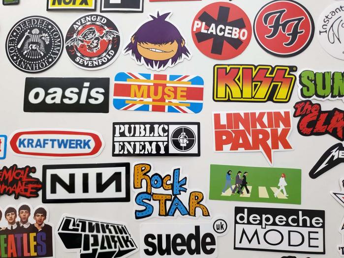 Set 100 stickere bagaje Rock the world 5