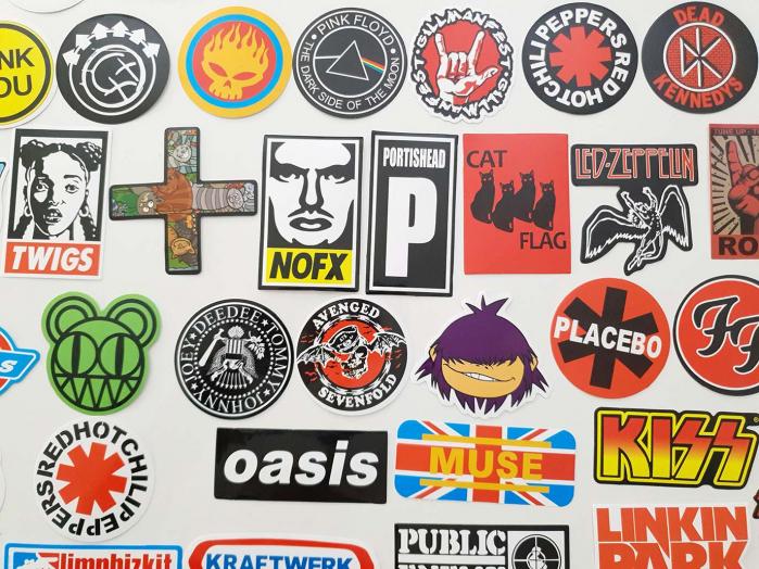 Set 100 stickere bagaje Rock the world 3