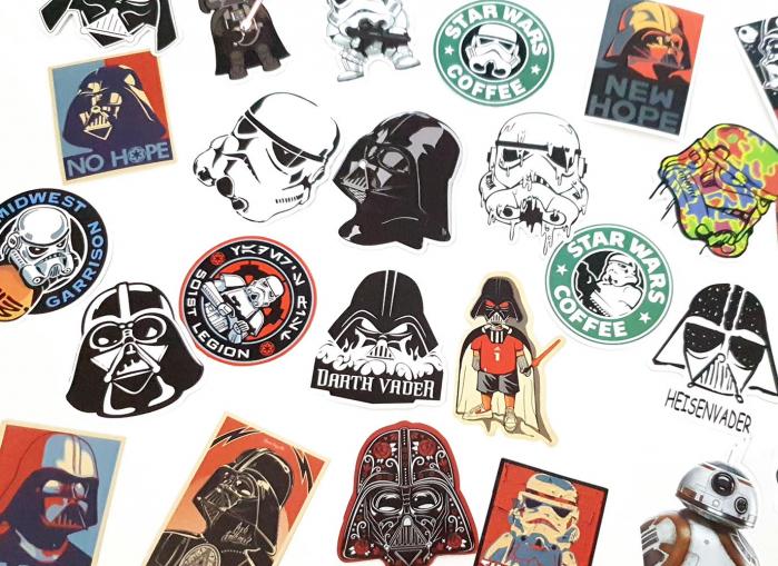 Set 25 stickere laptop Star Wars 4