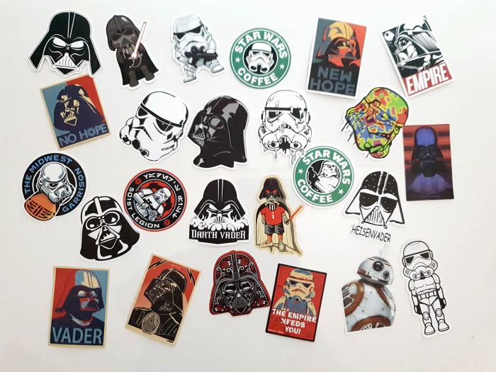 Set 25 stickere laptop Star Wars 0
