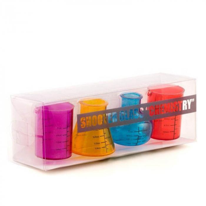 Set 4 pahare de laborator pentru shoturi 6