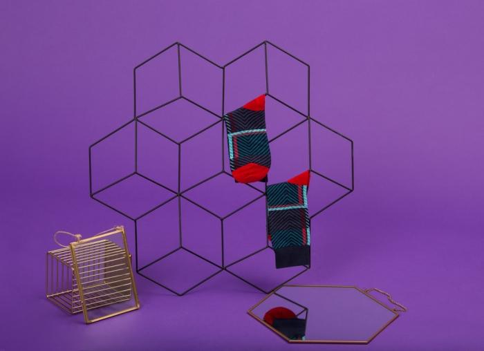 Set 5 perechi sosete colorate cu modele vesele