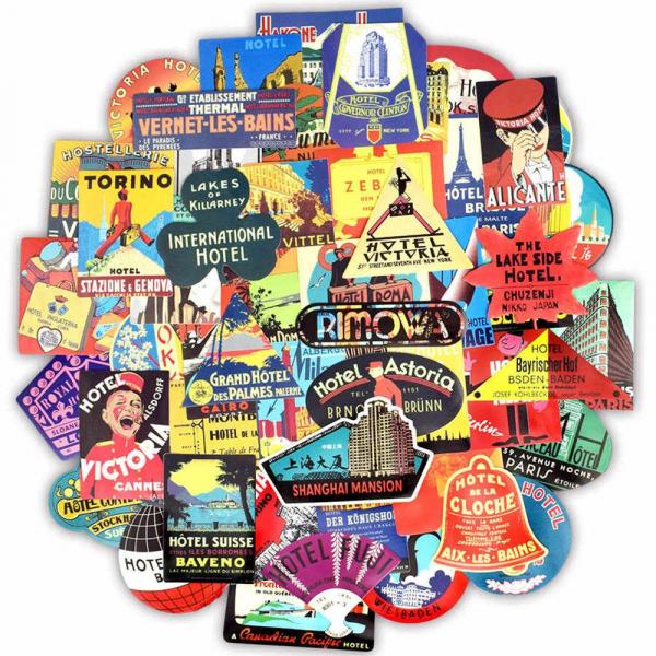 Set 56 stickere laptop Travel Addict 0