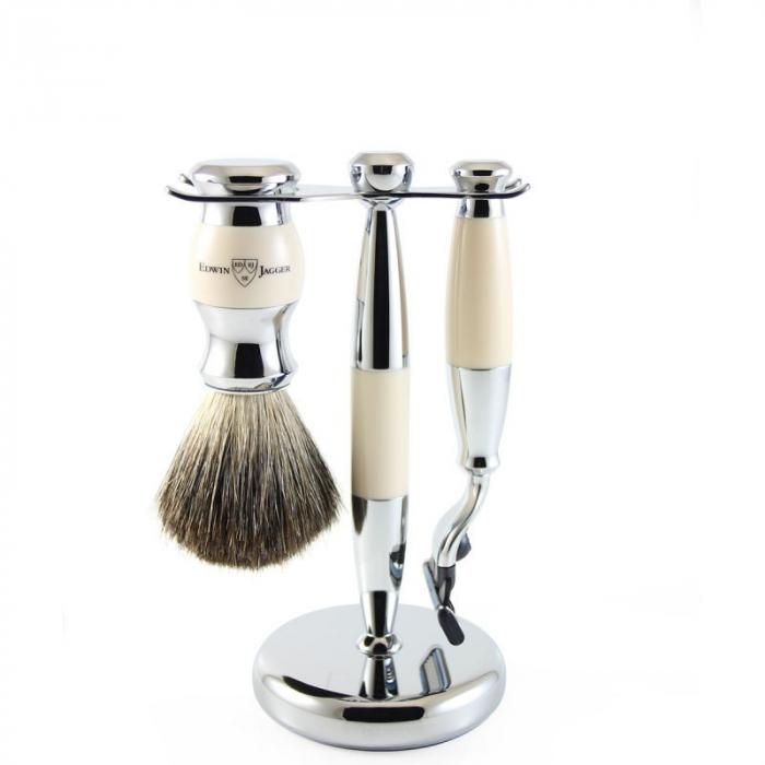 Set de barbierit 3 piese Ivory Mach3 Edwin Jagger 1