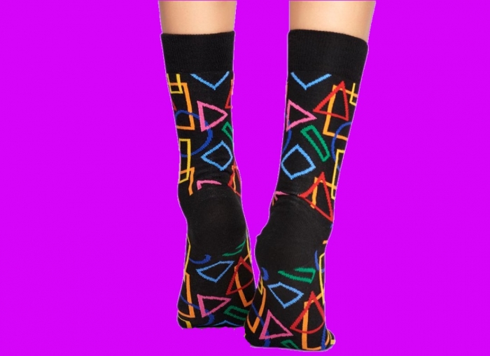 Sosete geometrice Happy Socks 1