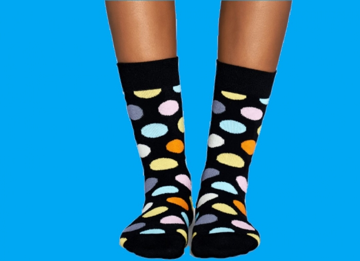 Sosete Happy Socks cu buline vesele 2